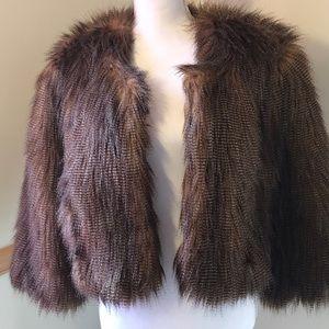 Faux Fur INC 3/4 length cape